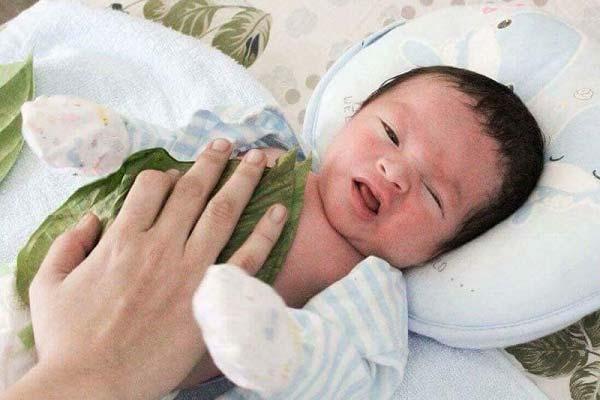 hướng dẫn hơ lá trầu cho trẻ sơ sinh